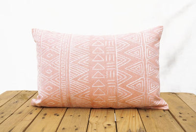 Embroidered Pink Pillow Cover in Cotton - Cushions & Pillows