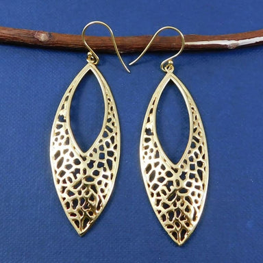 Gold Plated Drop Earrings Handmade - Earrings