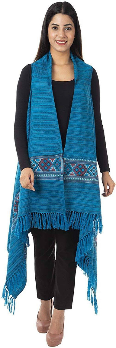 Women's Wool Cape (Blue)