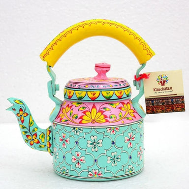 Hand Painted Spring Delight Tea Pot in Aluminium - Title - Painted Teapots
