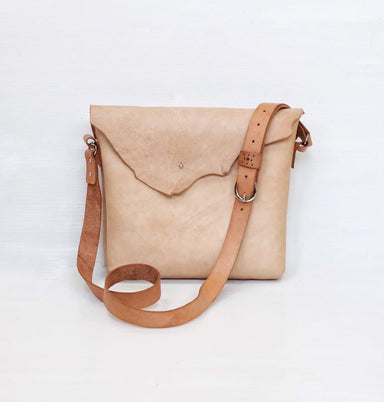Handmade Camille Sling Bag in Vegtanned Leather - Sling Bags