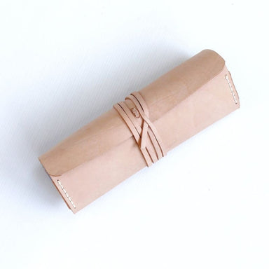 Handmade Jewelry Roll in Vegtanned Leather - Accessories