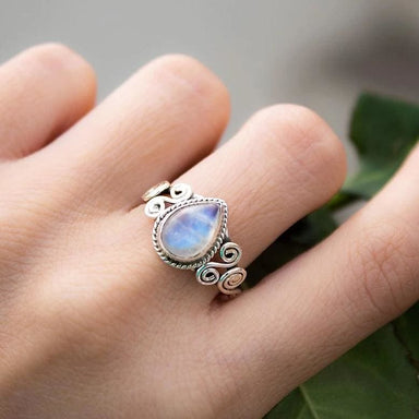 Handmade Moonstone Gemstone Ring - Rings
