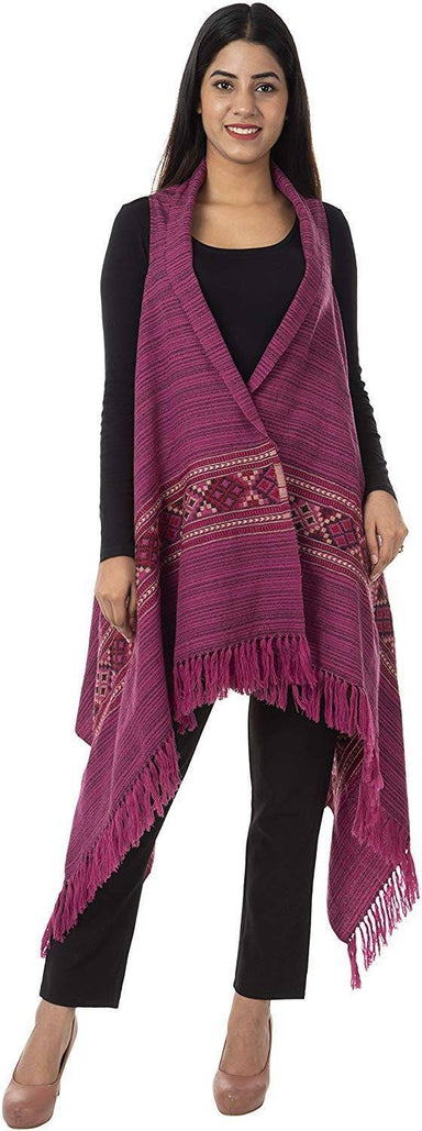 Women's Wool Cape (Pink)