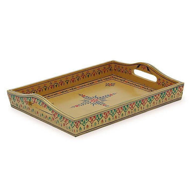 Kaushalam kitchen tray in golden color - Title - Kitchen Decor