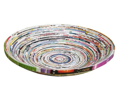 Medium Recycled Magazine Bowl Made Using Upcycled Magazine Paper (diameter 25cm) - Home Decor