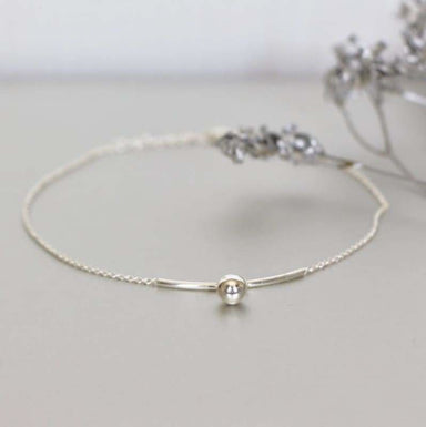 Moon Design Anklet in Sterling Silver - Anklets