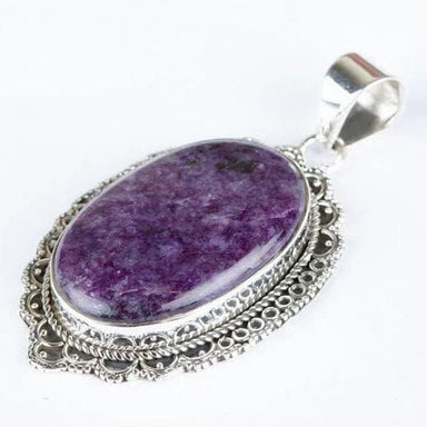 Natural Charoite Pendant - Pendants