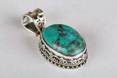 Natural Turquoise Gemstone Pendant - Necklaces