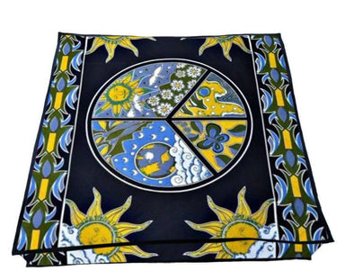35 Inches Indian Square Floor Pillow Cover Cotton Ottoman Hippie Moon Design Cushion Cover