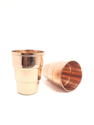Set of 2 Hand Hammered Pure Copper Drinking Cups - Kitchen Decor
