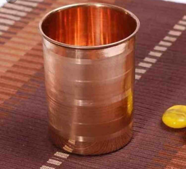 Set of 4 Pure Copper Drinking Cups - Kitchen Decor