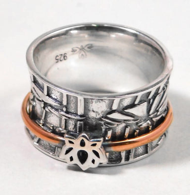 Silver Spinner Lotus Ring - Rings