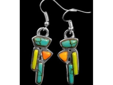 Stone Mosaic Barbara Artisan Earrings - Earrings