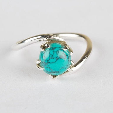 Turquoise Gemstone Ring in 925 Sterling Silver - Rings