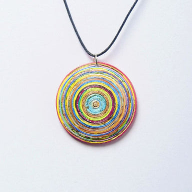 Upcycled Quilled Necklace Made of Magazine Paper - Necklaces