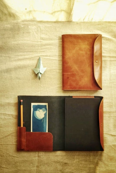 Vegetable Tanned Leather Notebook Case (A5) - Cases & Sleeves