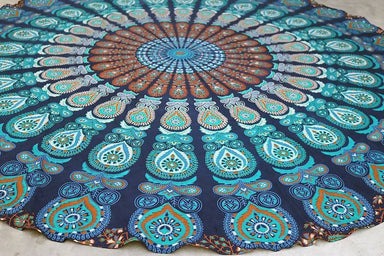 Round Picnic Hippie Tapestry