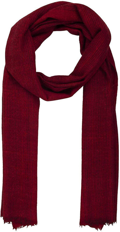 Unisex Scarf (Burgundy Self Stripe)