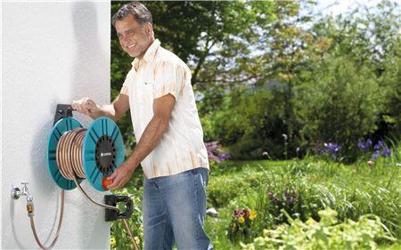 Classic Wall-Fixed Hose Reel 60 - GARDENA - ClickLeaf