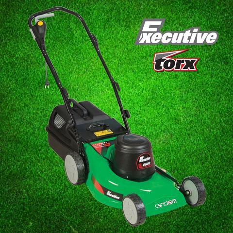 Executive Electric Lawnmower - 2600W (includes 30m cable) - Tandem - ClickLeaf