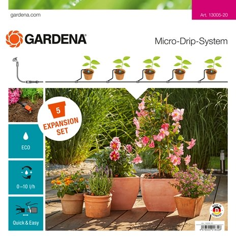 Expansion Set Flower Pots Micro-Drip-System - ClickLeaf