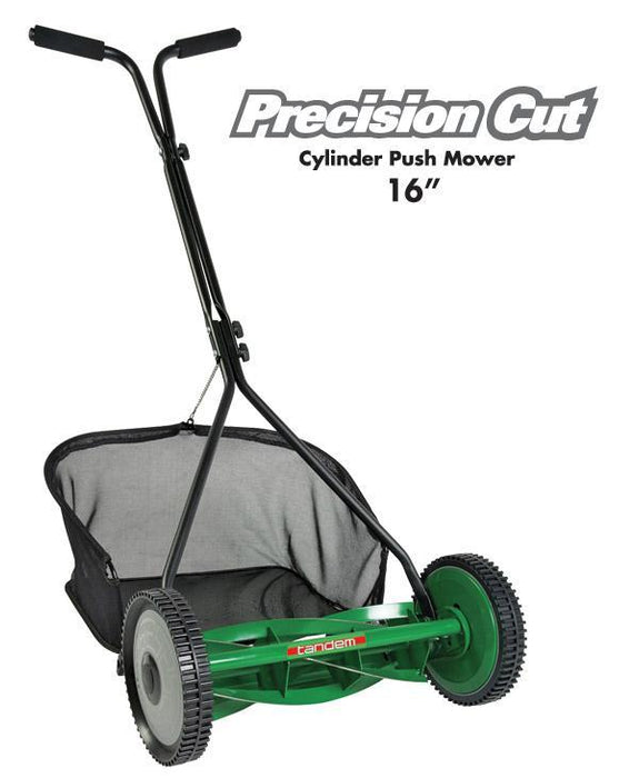 "Precision Cut - Push Mowers 16"" with grass box - Tandem - ClickLeaf"