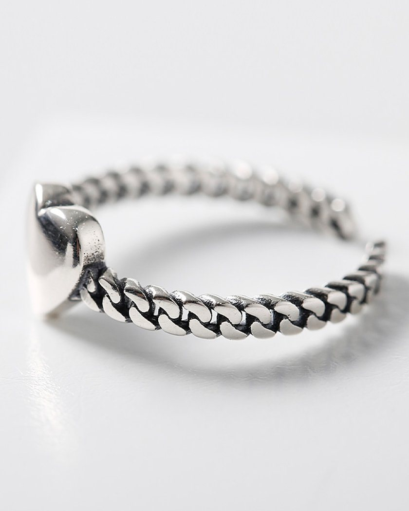 [925 Silver] Love In Chain リング ring soo&soo
