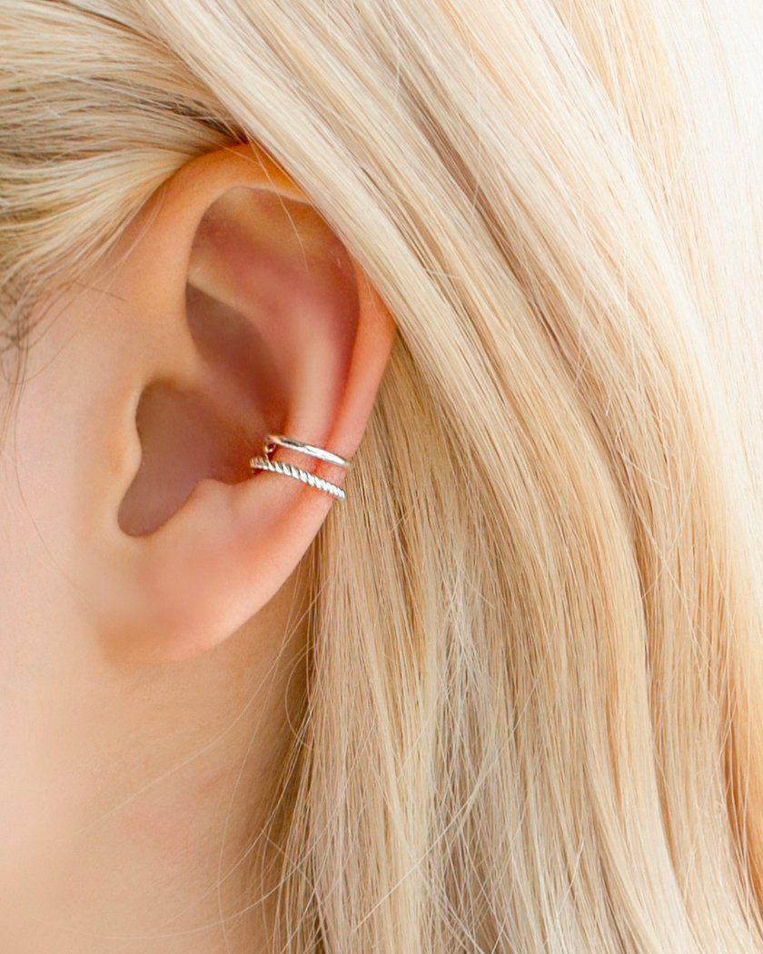 [925 Silver] ミニボールイヤーカフ Earcuffs pink-rocket