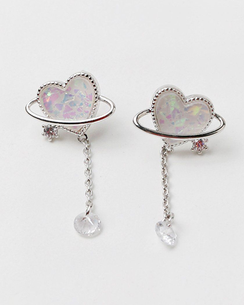 AURORA HEART PLANET EARRING Earrings pink-rocket