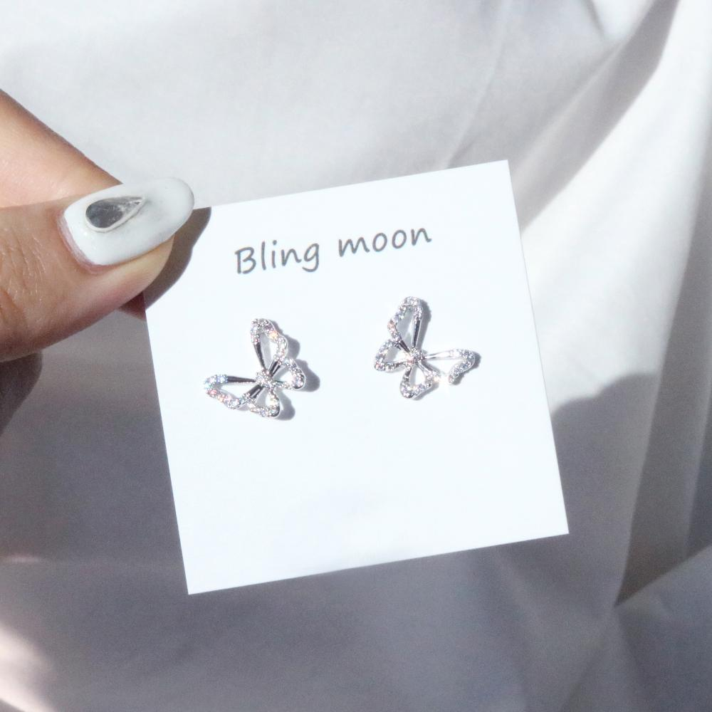 Butterfly Earring & Necklace SET necklace bling moon