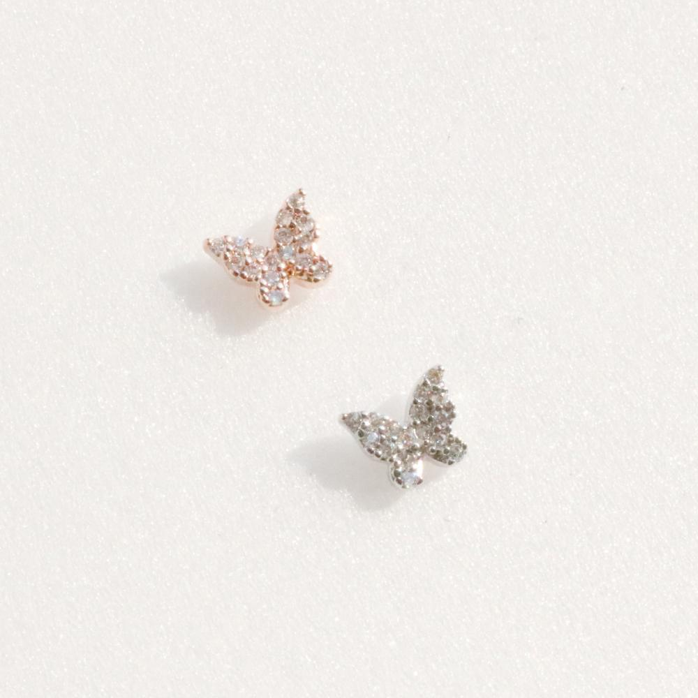Butterfly Twin Piercing (2 color) Piercing bling moon