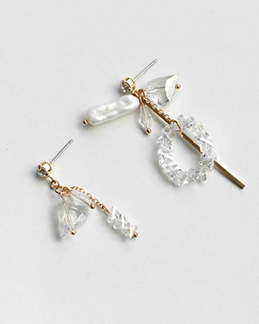 CHARMING UNBALANCE DROP EARRING Earrings pink-rocket