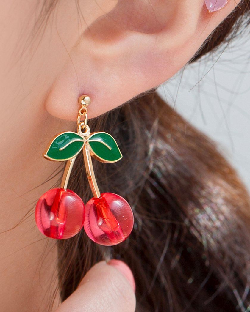 CHERRY TOK DROP EARRING Earrings pink-rocket