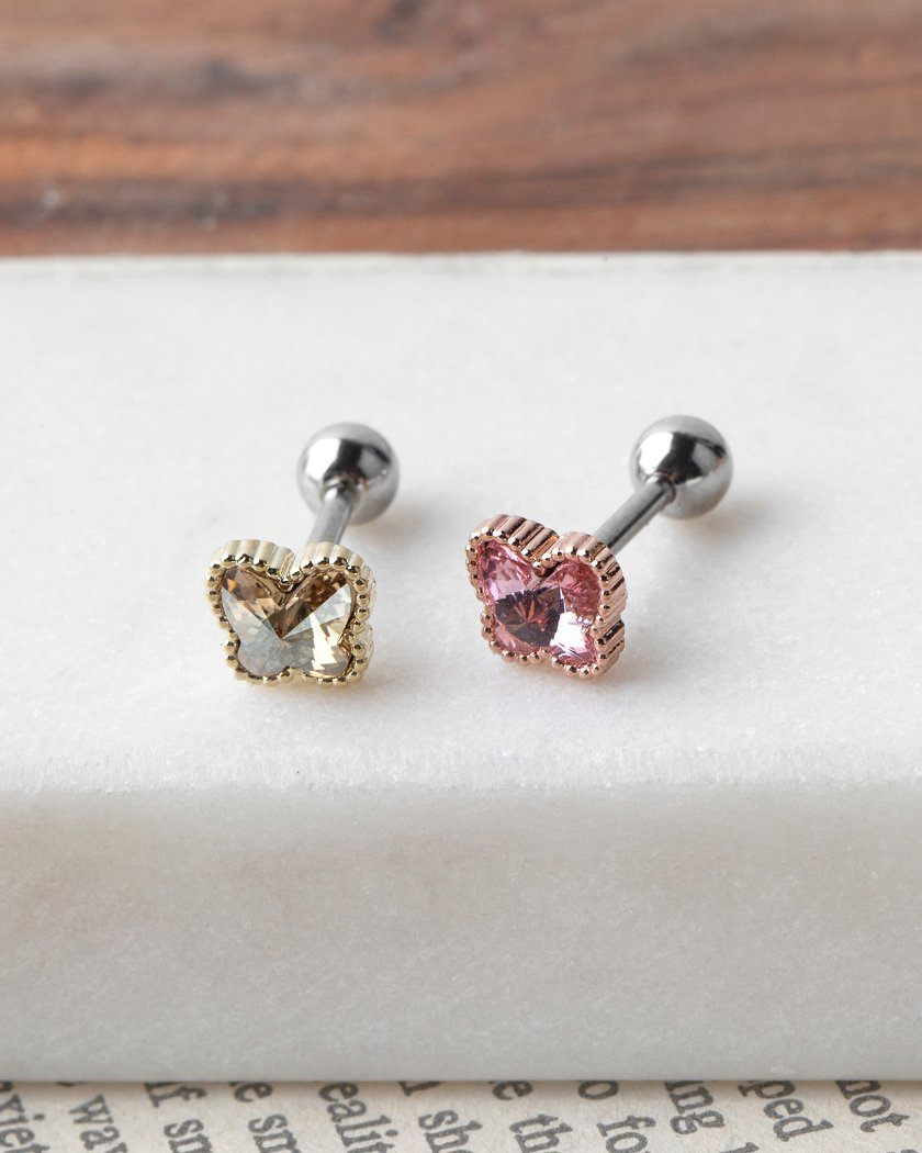CHUBBY COLOR BUTTERFLY ピアッシング Piercing pink-rocket
