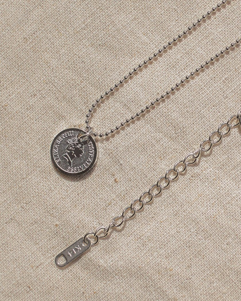 COIN PANDENT NECKLACE necklace pink-rocket