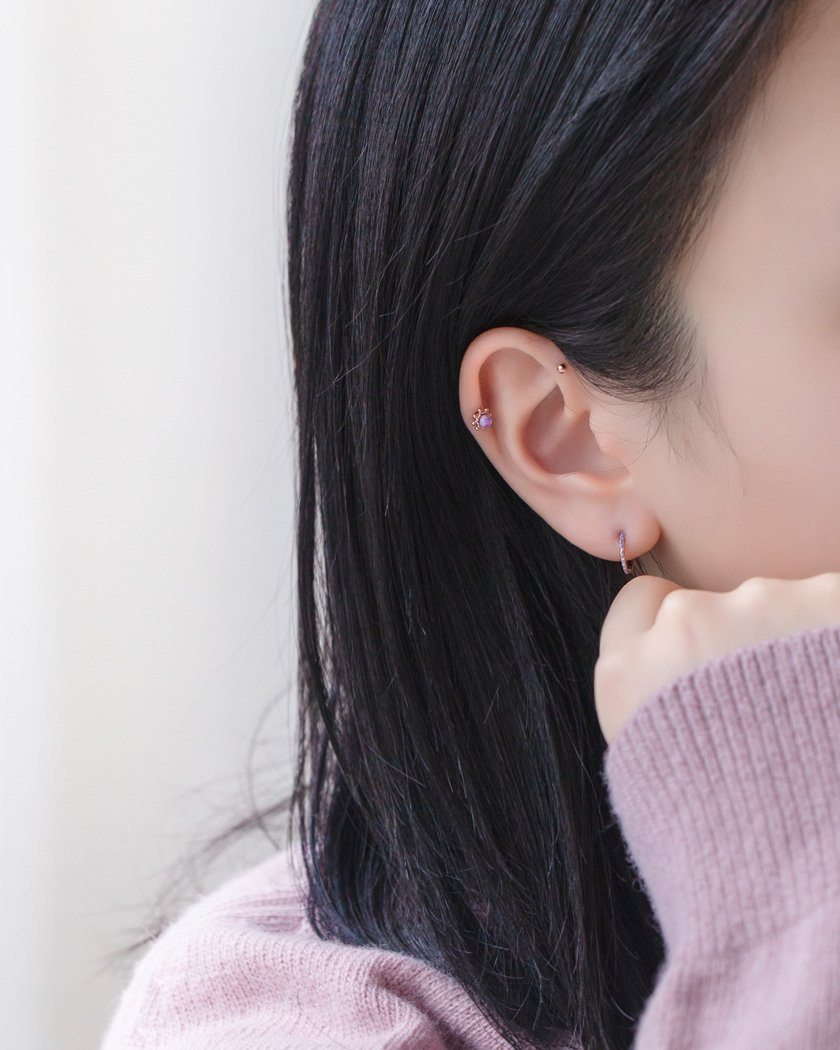 COLOR OPAL POINT RING ピアッシング Piercing pink-rocket