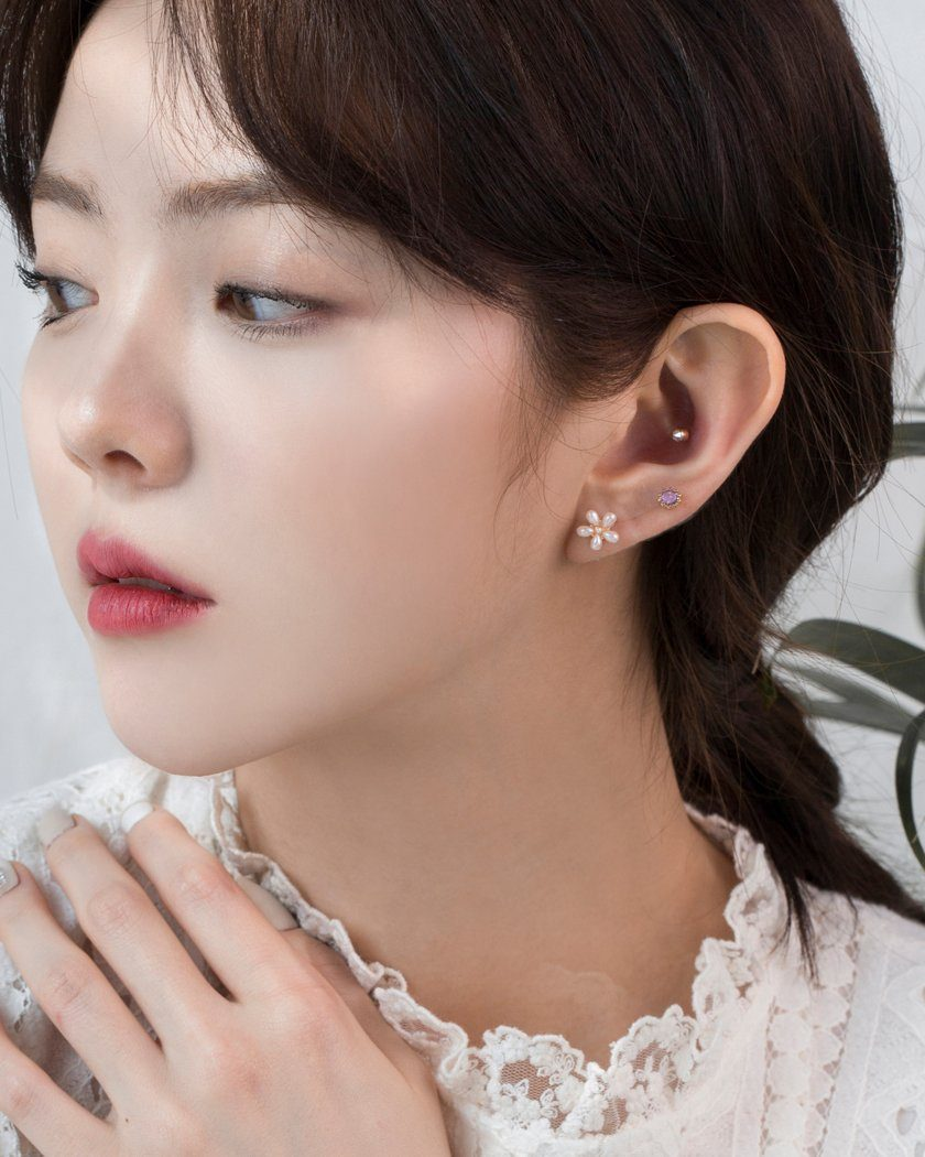 FLOWER GARDEN EARRING SET [12個セット] Earrings pink-rocket