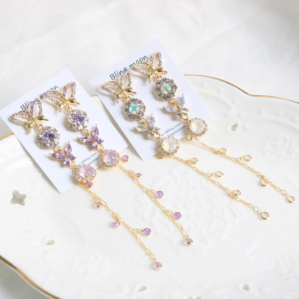 Frill butterfly earring (2 color) Earrings bling moon