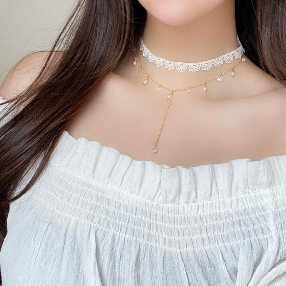 Lace Layered チョーカー necklace bling moon