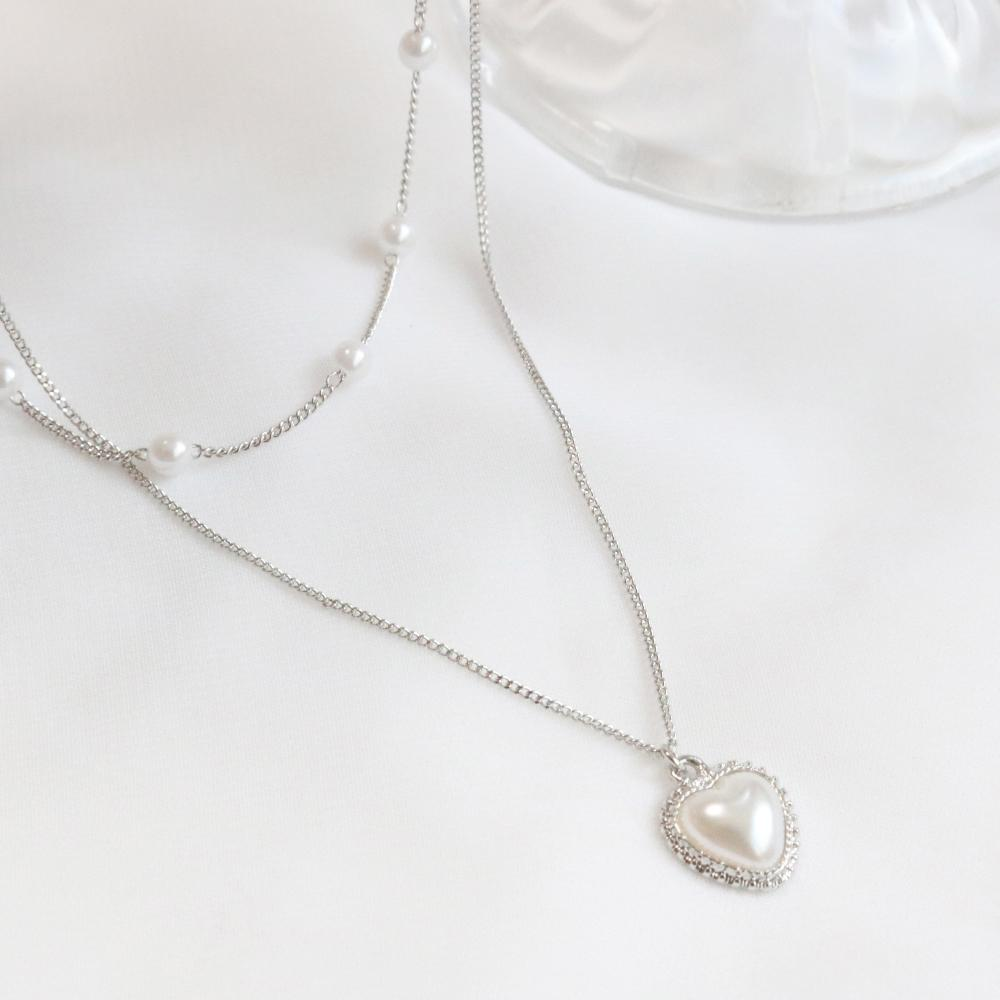 Layered Pearl ネックレス necklace bling moon