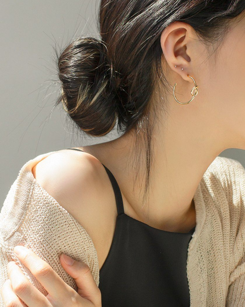 LOVE KNOT RING EARRING Earrings pink-rocket