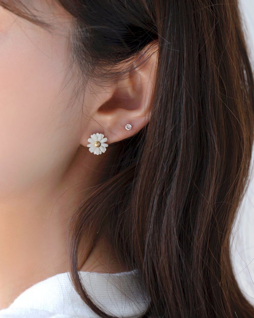 MAGARET DAISY EARRING Earrings pink-rocket