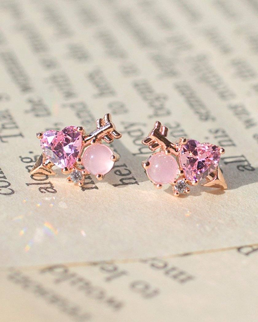 MILKY HEART ARROW EARRING Earrings pink-rocket