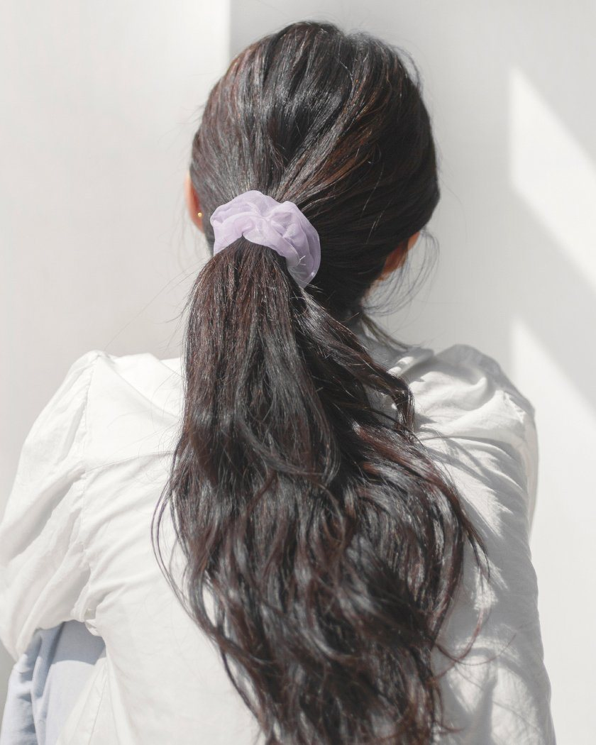 MINI SEE-THROUGH SCRUNCHY SET [3個セット] Hair pink-rocket