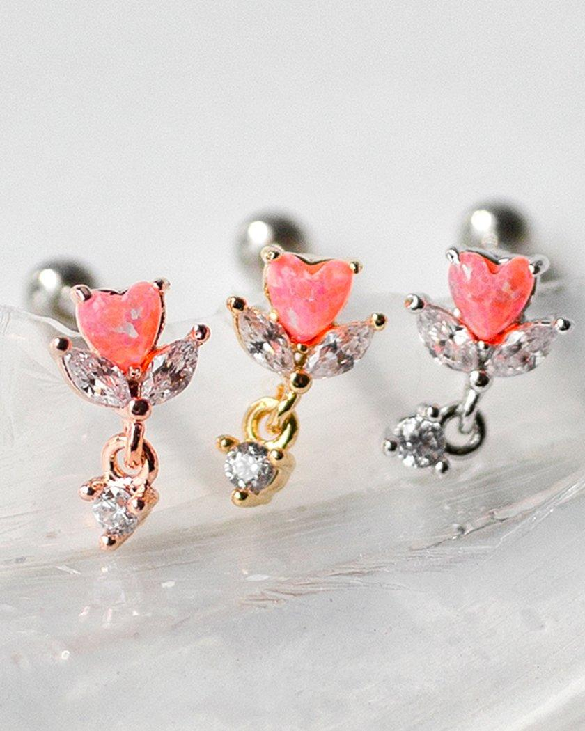 NEON HEART JEWELRY BARBELL PIERCING Piercing pink-rocket
