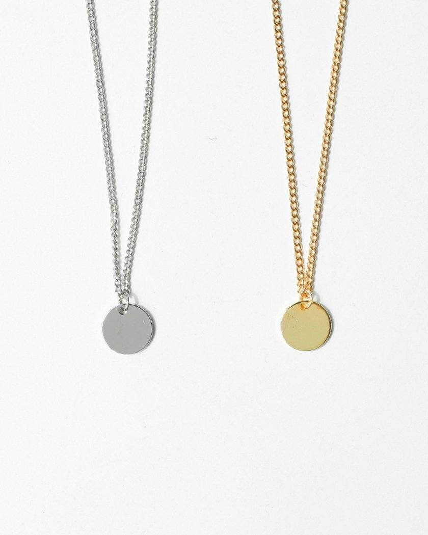 PLAT COIN NECKLACE necklace pink-rocket