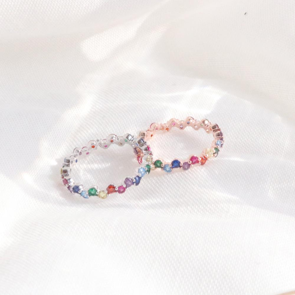 Rainbow Earring & Ring Set (2 color) Earrings bling moon