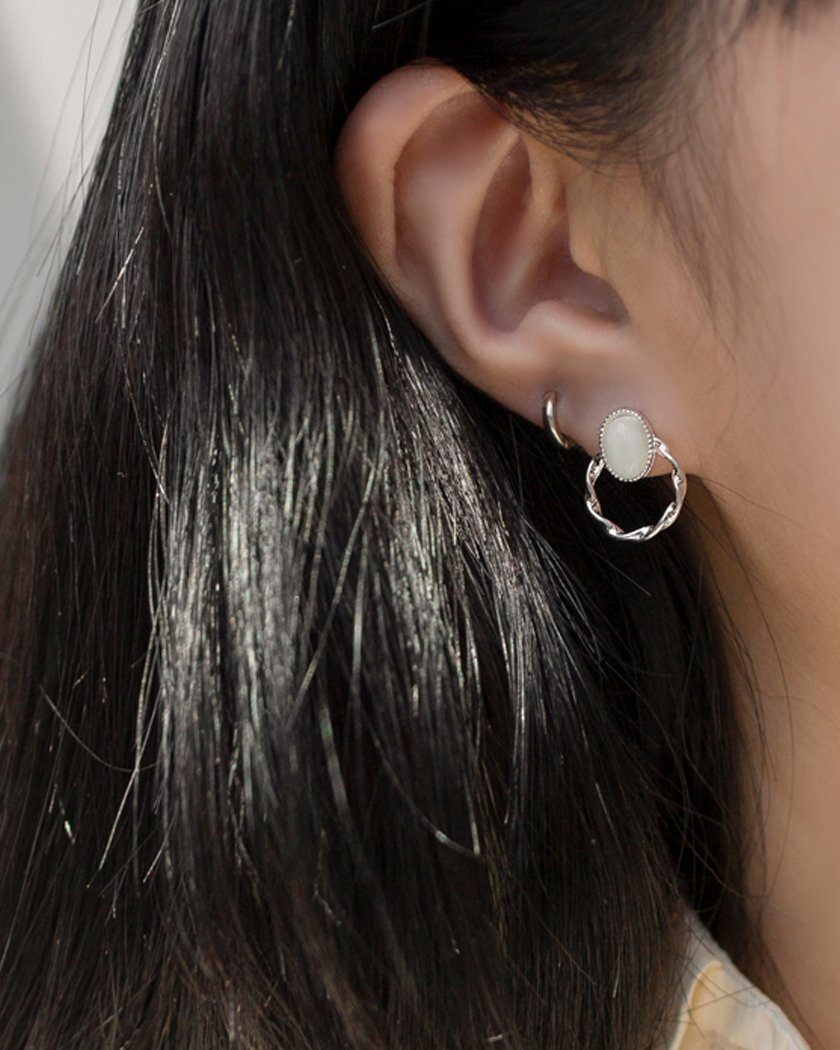 ROUND RING POINT EARRING Earrings pink-rocket