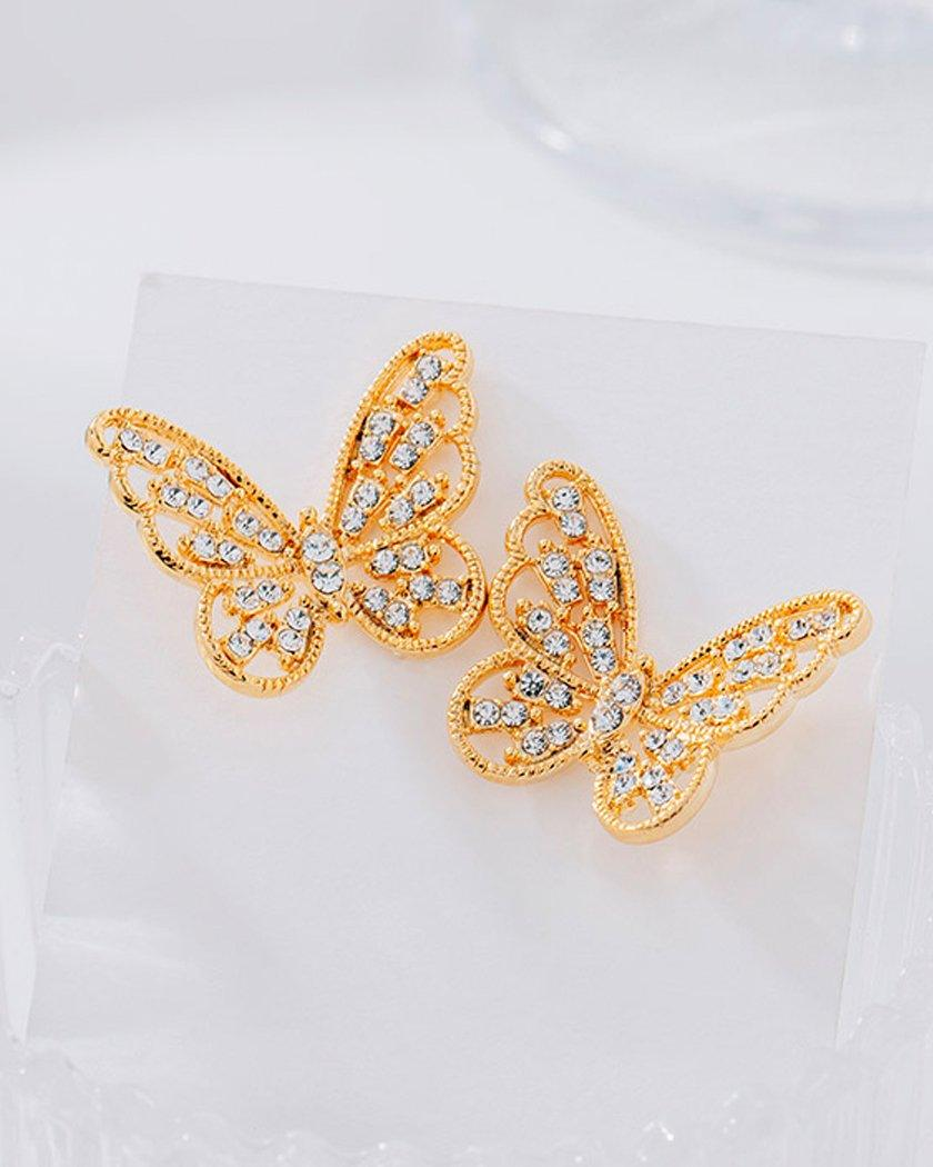 Shine Cubic Butterfly ピアス Earrings soo&soo